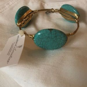 Bourbon and Bowties Turquoise Stone Bracelet SZ M